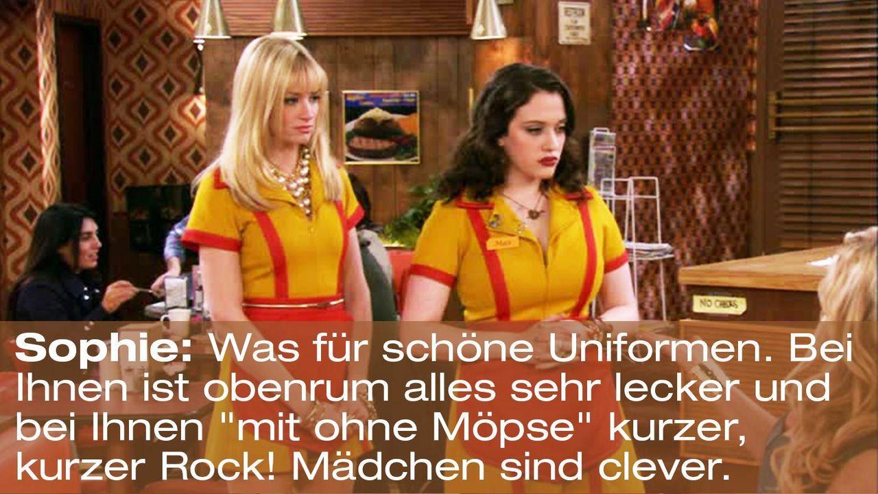 2-broke-girls-zitat-episode-15-staffel-1-unbekannte-nachbar-sophie-schoene-uniformen-warnerpng 1600 x 900 - Bildquelle: Warner Brothers Entertainment Inc.