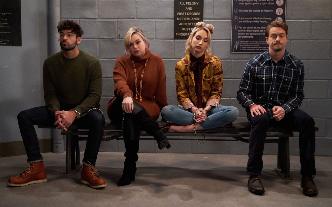 (v.l.n.r.) Ryan Vogelson (Jordan Masterson); Kristin Baxter (Amanda Fuller); Mandy Baxter (Molly McCook); Kyle Anderson (Christoph Sanders) - Bildquelle: Michael Becker 2018-2019 Twentieth Century Fox Film Corporation.  All rights reserved / Michael Becker