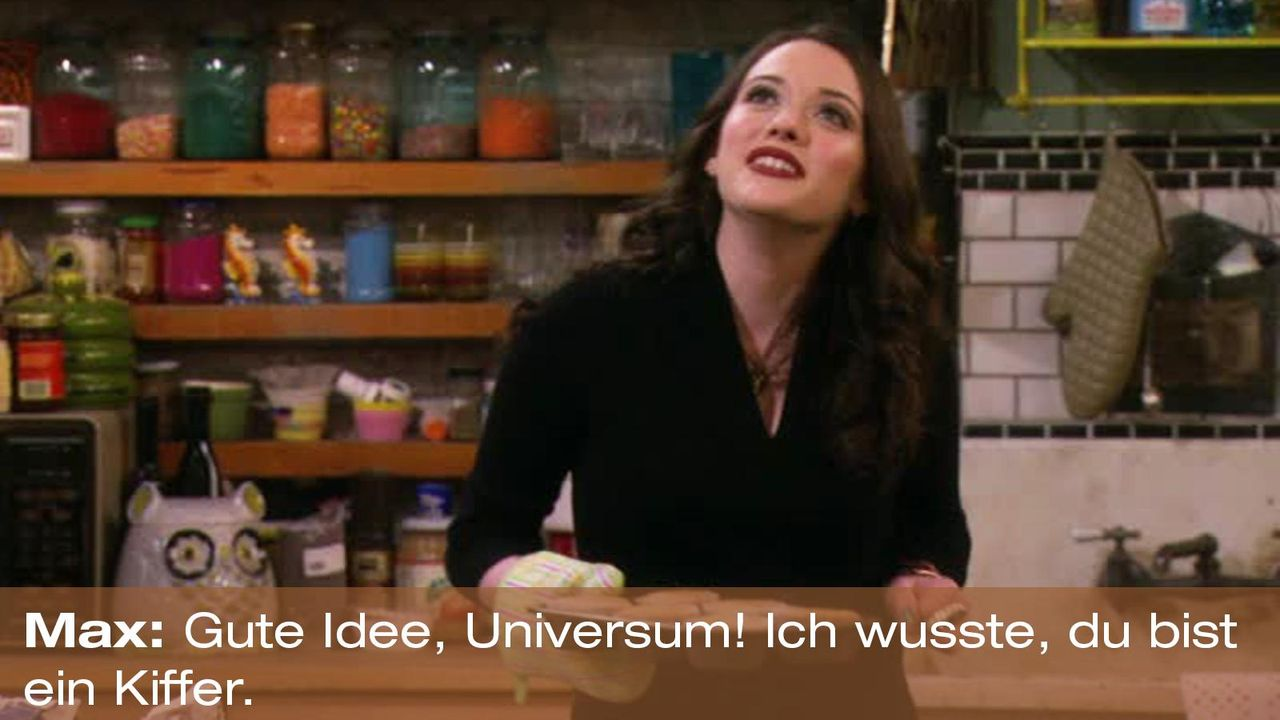 2-broke-girls-zitat-quote-staffel2-episode12-breite-weihnachten-max-universum-warnerpng 1600 x 900 - Bildquelle: Warner Bros. International Television
