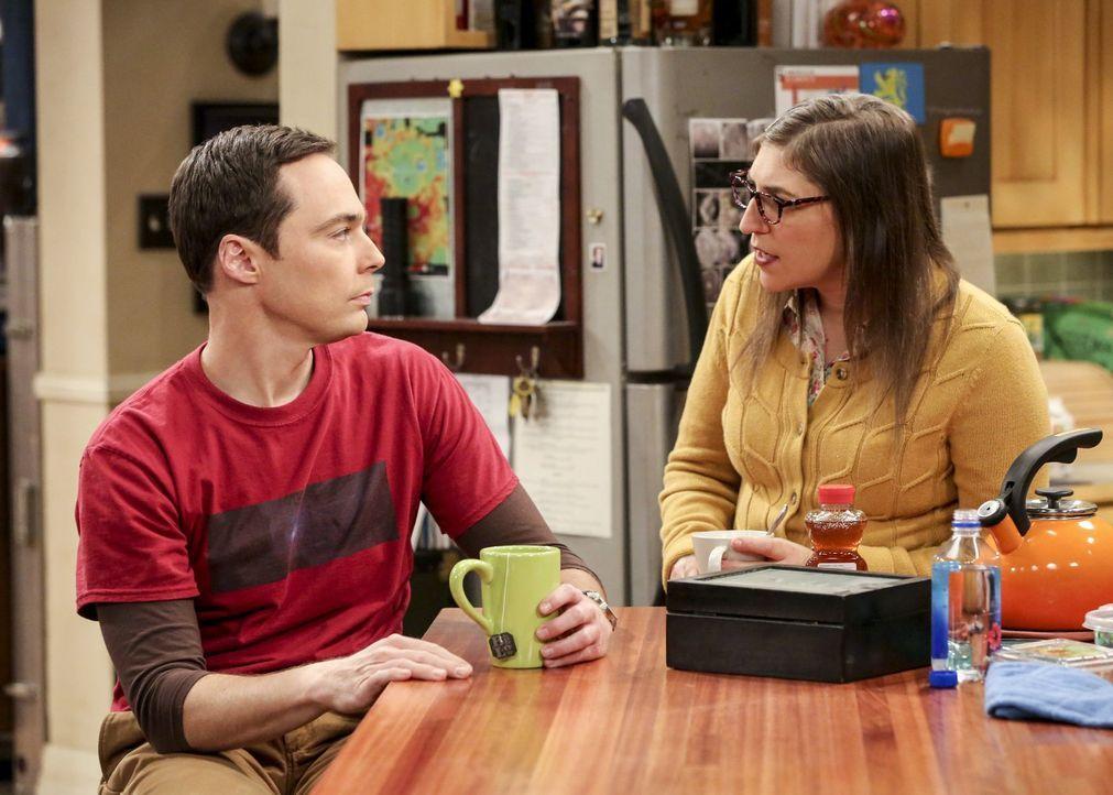 Penny und Leonard lernen mehr über ihre Beziehung, während auch Amy (Mayim Bialik, r.) immer wieder Erstaunliches über Sheldon (Jim Parsons, l.) erf... - Bildquelle: Warner Bros. Television