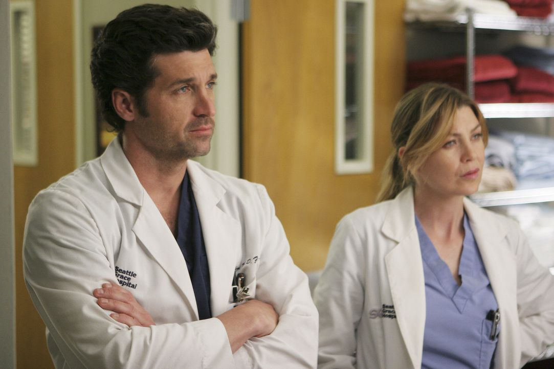 Derek (Patrick Dempsey, l.) und Meredith (Ellen Pompeo, r.) setzen alles daran, ein krebskrankes Liebespaar zu retten ... - Bildquelle: Michael Desmond 2008 American Broadcasting Companies, Inc. All rights reserved. NO ARCHIVE. NO RESALE.
