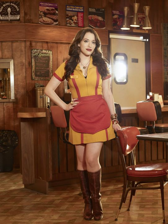 (6. Staffel) - So schnell bringt Max (Kat Dennings) nichts aus der Fassung, aber manchmal kann auch die taffe Großstadtgöre nicht mehr an sich halte... - Bildquelle: Warner Bros. Television