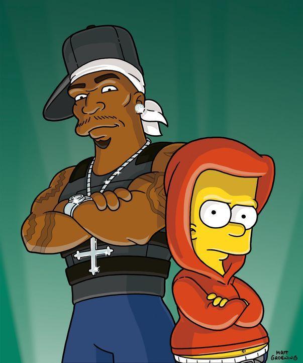 Unglaublich: Bart (r.) trifft auf 50 Cent (l.) ... - Bildquelle: und TM Twentieth Century Fox Film Corporation - Alle Rechte vorbehalten