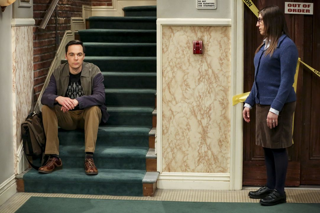 Sheldon Cooper (Jim Parsons, l.); Amy Farrah Fowler (Mayim Bialik, r.) - Bildquelle: Michael Yarish 2019 CBS Broadcasting, Inc. All Rights Reserved / Michael Yarish