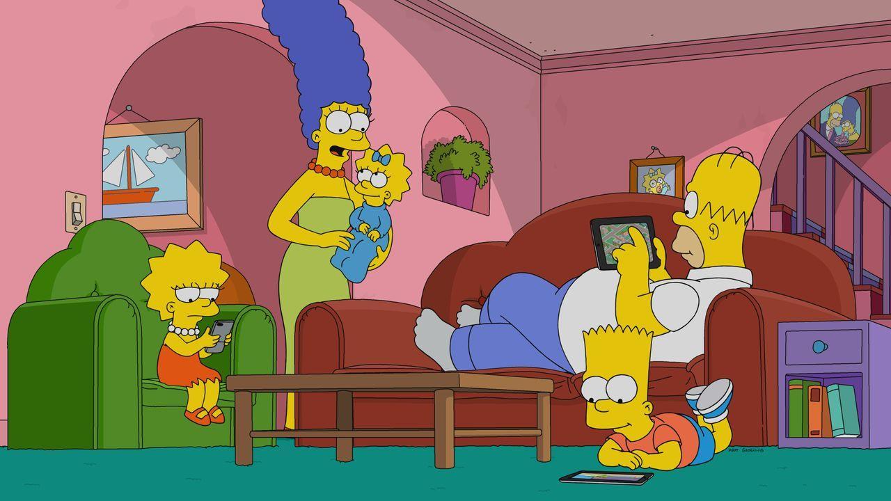 (v.l.n.r.) Lisa; Marge; Maggie; Bart; Homer - Bildquelle: 2019-2020 Twentieth Century Fox Film Corporation.  All rights reserved.