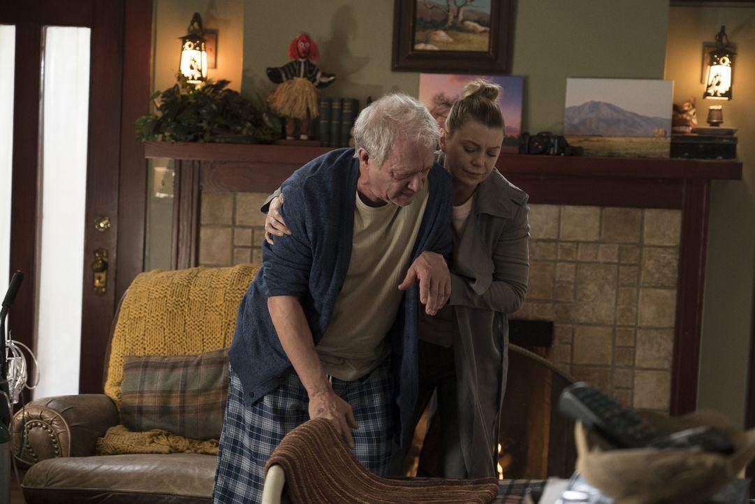 Thatcher Grey (Jeff Perry, l.); Meredith Grey (Ellen Pompeo, r.) - Bildquelle: Eric McCandless ABC Studios