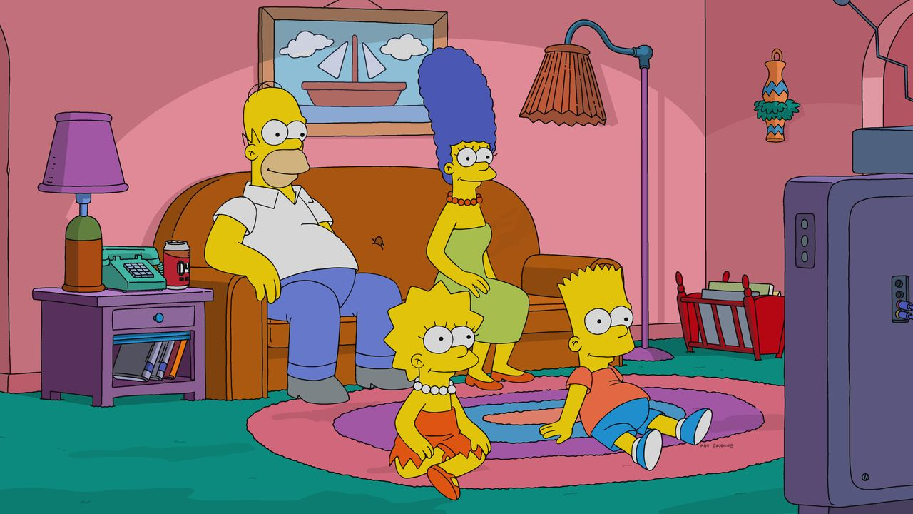 (v.l.n.r.) Homer; Lisa; Marge; Bart - Bildquelle: 2018-2019 Fox and its related entities.  All rights reserved.