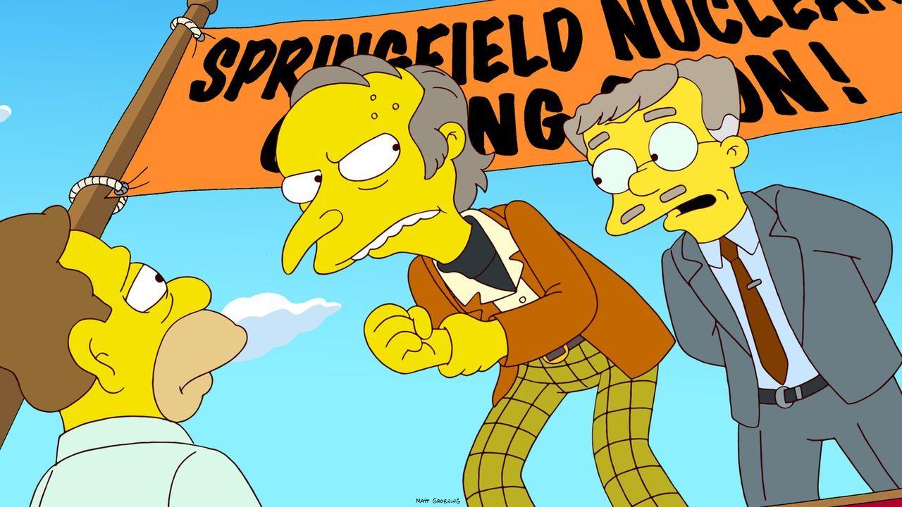 Rückblick in Homers Kindheit: Grampa (l.), Mr. Burns (M.) und Smithers (r.)... - Bildquelle: und TM Twentieth Century Fox Film Corporation - Alle Rechte vorbehalten