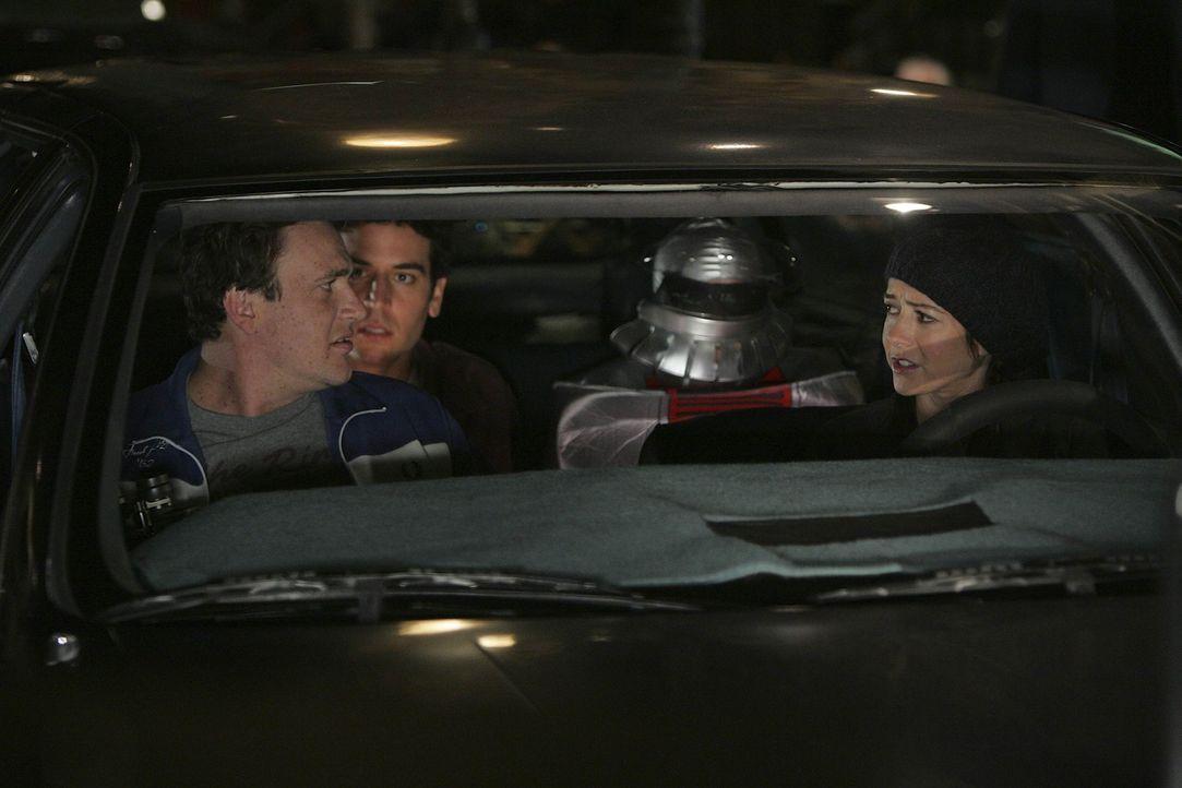 Haben einen gemeinen Plan: Ted (Josh Radnor, M.), Marshall (Jason Segel, l.) und Lily (Alyson Hannigan, r.) ... - Bildquelle: 20th Century Fox International Television