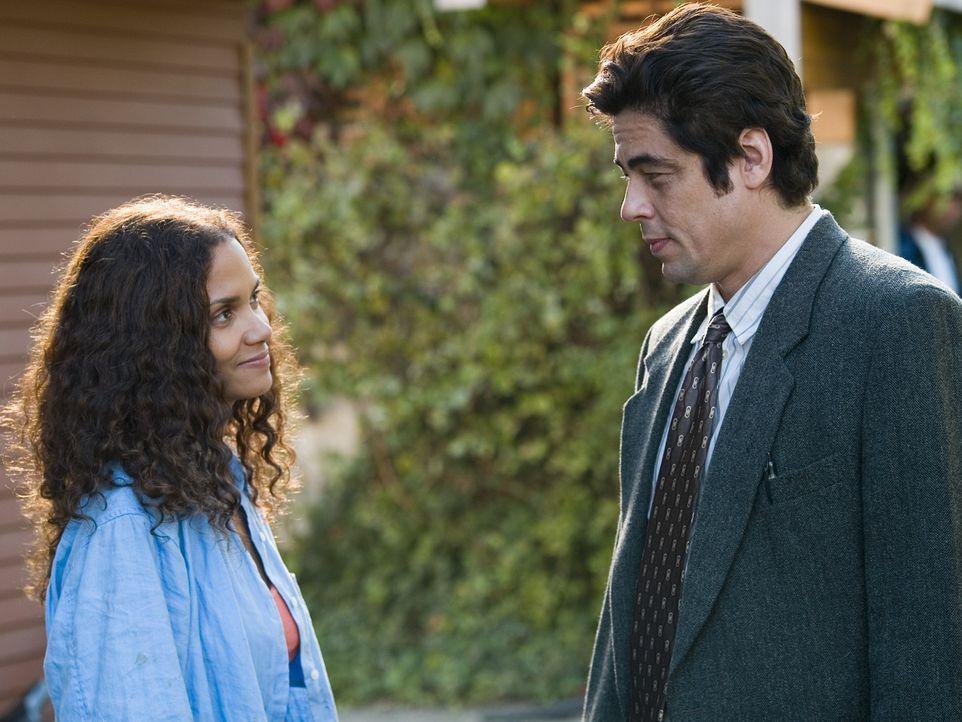 Als er eine Frau vor ihrem gewalttätigen Ehemann beschützen will, kommt Audrey Burkes (Halle Berry, l.) Ehemann Brian ums Leben. Allein mit ihrem... - Bildquelle: DREAMWORKS LLC. ALL RIGHTS RESERVED.