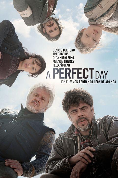 A perfect day - Plakat - Bildquelle: 2015 Reposado Producciones Cinematográficas, S.L. and Mediaproducción, S.L.U. All rights reserved.