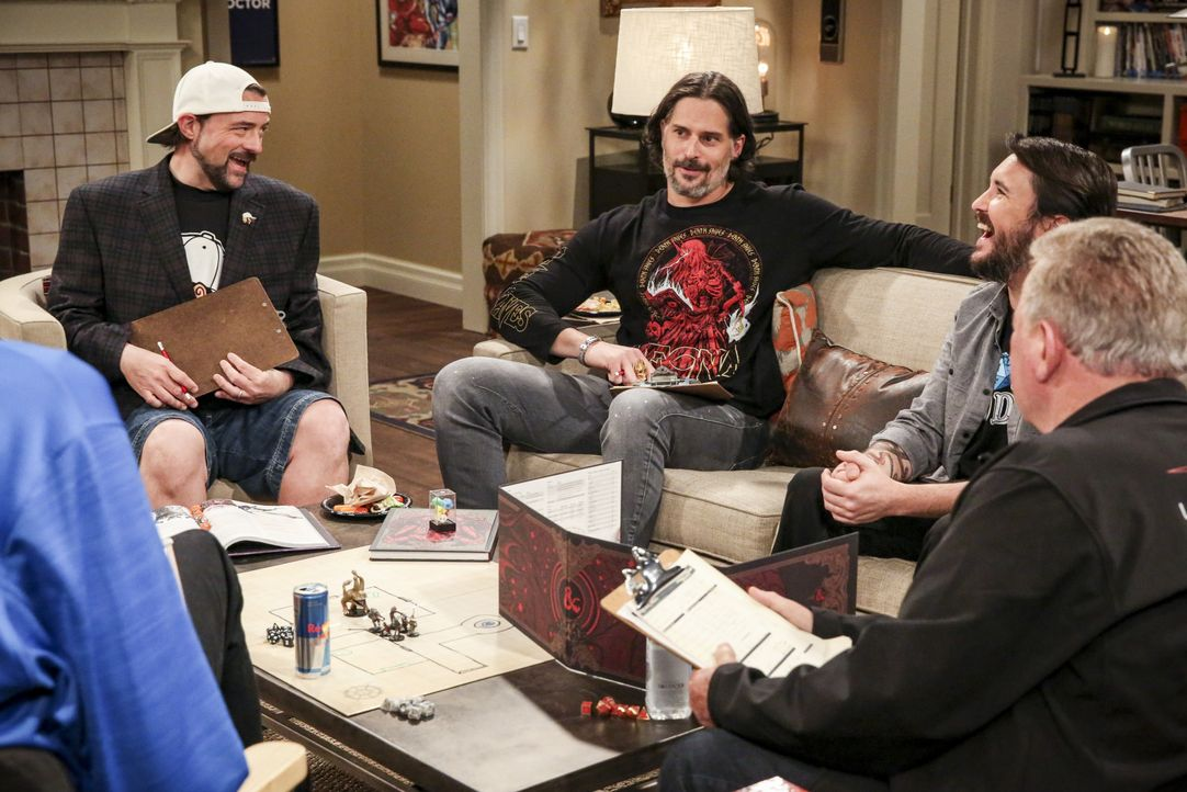 (v.l.n.r.) Kevin Smith (Kevin Smith); Joe Manganiello (Joe Manganiello); Wil Wheaton (Wil Wheaton), William Shatner (William Shatner) - Bildquelle: Michael Yarish 2019 CBS Broadcasting, Inc. All Rights Reserved / Michael Yarish
