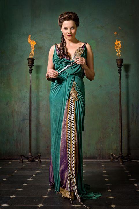 Die Bewohner Capuas sehen in Lucretias (Lucy Lawless) Überleben ein Zeichen der Götter. Sie betrachten Lucretia von nun an als Gesegnete, was diese... - Bildquelle: 2011 Starz Entertainment, LLC. All rights reserved.