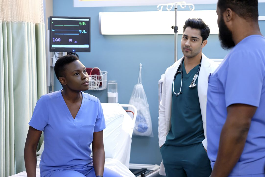 (v.l.n.r.) Dr. Mina Okafor (Shaunette Renée Wilson); Dr. Devon Pravesh (Manish Dayal); AJ Austin (Malcom-Jamal Warner) - Bildquelle: 2018-2019 Twentieth Century Fox Film Corporation.  All rights reserved.