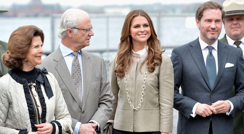 Prinzessin-Madeleine-von-Schweden-Chris-ONeill-Silvia-Carl-Gustaf-13-05-08-getty-AFP - Bildquelle: getty-AFP
