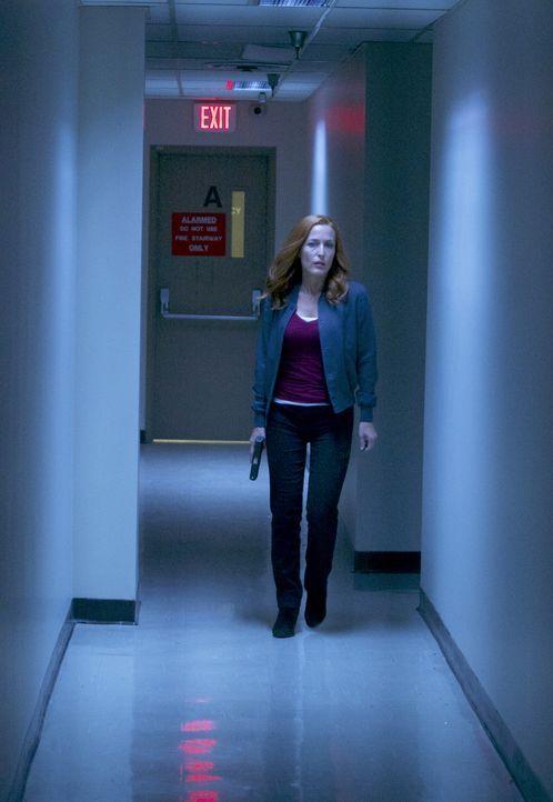 Muss in ein Regierungsgebäude einbrechen, um einem alten Freund zu helfen: Scully (Gillian Anderson) ... - Bildquelle: Shane Harvey 2017 Fox and its related entities.  All rights reserved.