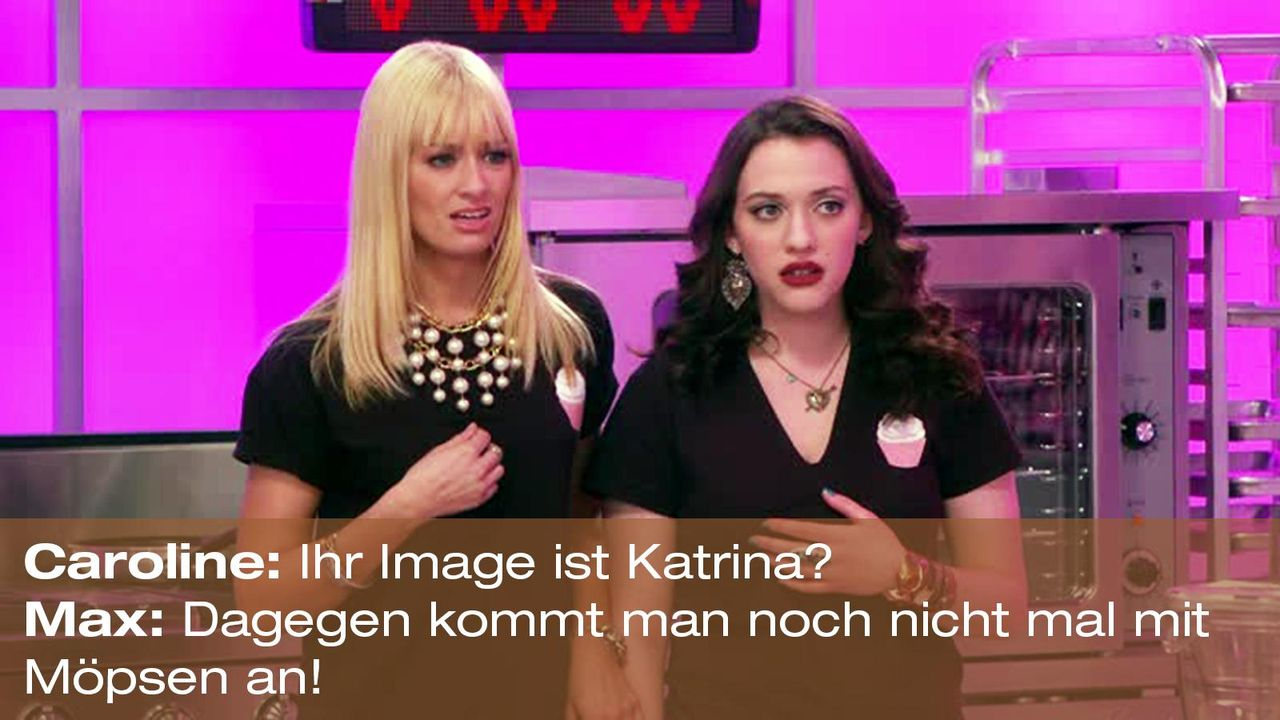 2-broke-girls-zitat-quote-staffel2-episode4-cupcake-wars-caroline-max-moepse-warner - Bildquelle: Warner Brothers Entertainment Inc.