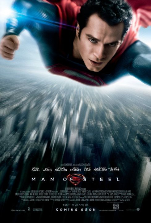 MAN OF STEEL - Plakatmotiv - Bildquelle: 2013 Warner Brothers