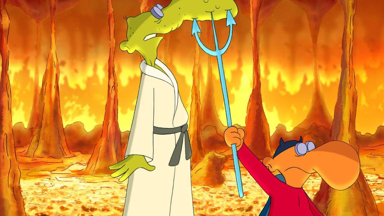 Nachdem er versehentlich lebendig begraben wurde, muss alter Sack in der Hölle schmoren. Satan erwartet ihn bereits ... - Bildquelle: 2006 Senator Film