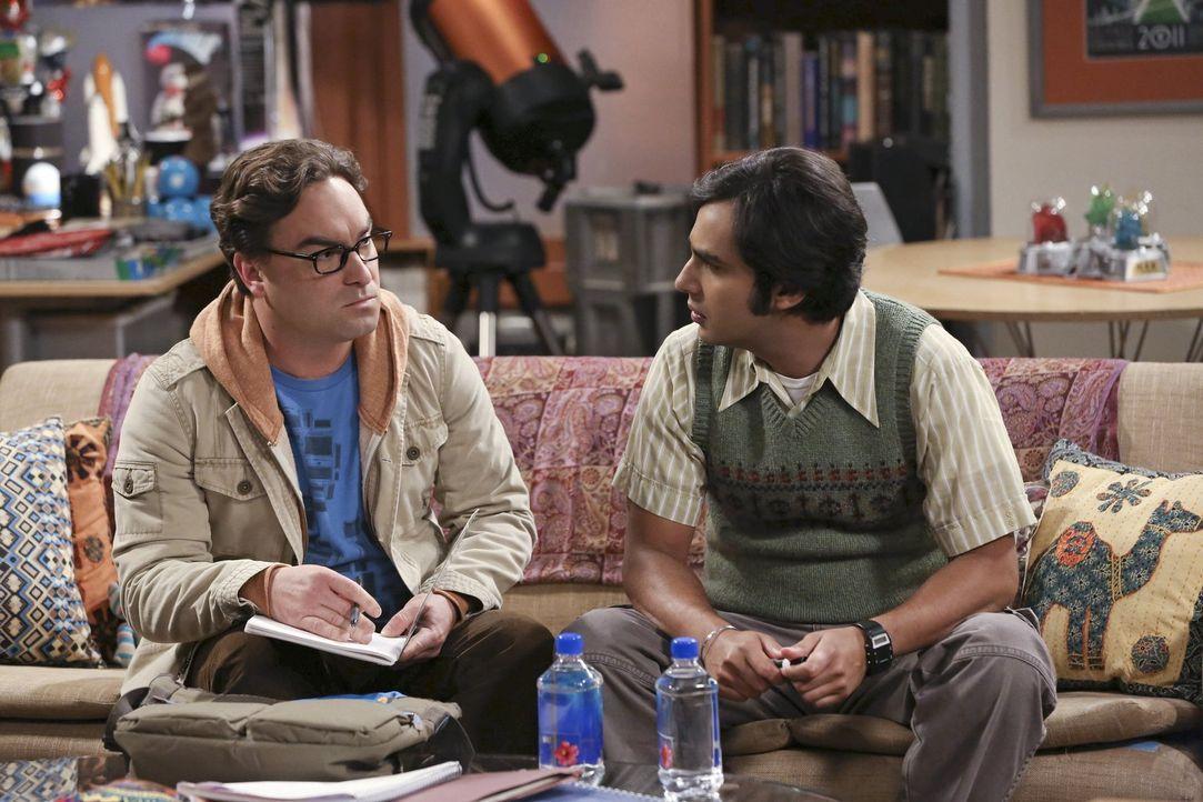 Ein großes Projekt, das Leonard (Johnny Galecki, l.) und Raj (Kunal Nayyar, r.) zu zweit meistern müssen, entpuppt sich als schwieriger als gedacht... - Bildquelle: Warner Bros. Television