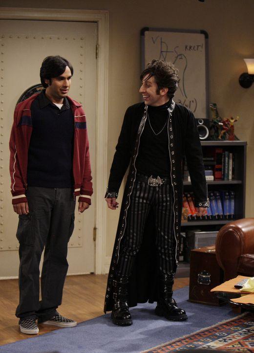 Wollen Mädchen abschleppen und haben einen ganz besonderen Plan: Raj (Kunal Nayyar, l.) und Howard (Simon Helberg, r.) ... - Bildquelle: Warner Bros. Television