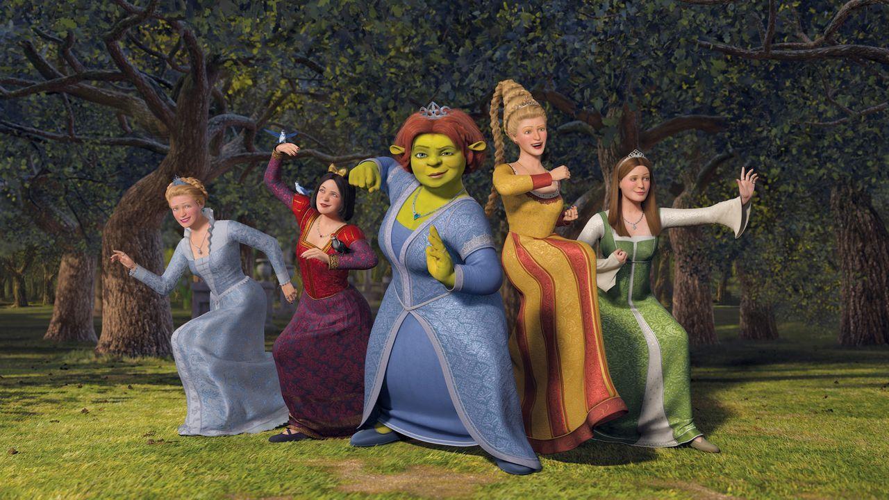 Macht erneut Ärger: Prinz Charming versucht Fiona (M.) und die anderen Prinzessinnen einzusperren, denn er möchte sich auf diese Weise selbst zum... - Bildquelle: TM &   2007 Dreamworks Animation LLC