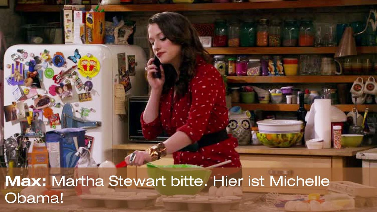 2-broke-girls-zitat-staffel2-episode2-glueckskette-max-michelle-obama-warnerpng 1600 x 900 - Bildquelle: Warner Brothers Entertainment Inc.