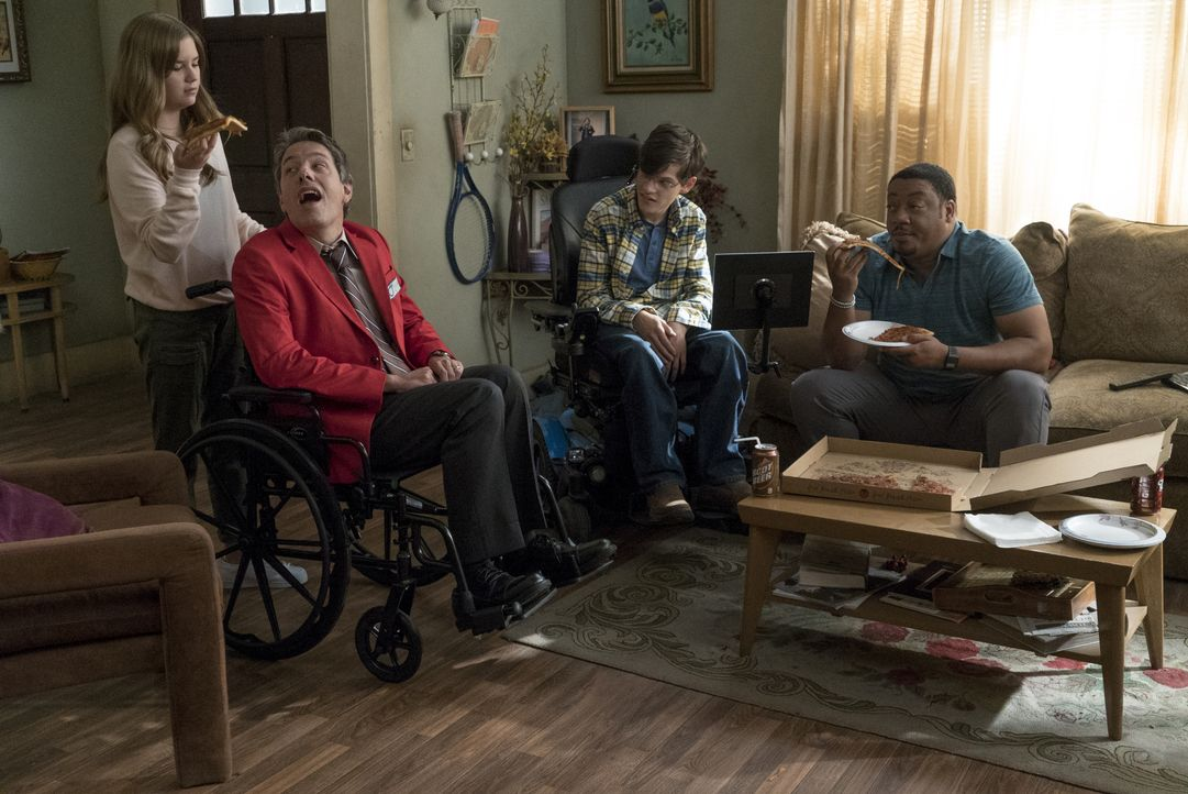(v.l.n.r.) Dylan DiMeo (Kyla Kenedy); Jimmy DiMeo (John Ross Bowie); JJ DiMeo (Micah Fowler); Kenneth Clements (Cedric Yarbrough) - Bildquelle: 2018-2019 American Broadcasting Companies. All rights reserved.