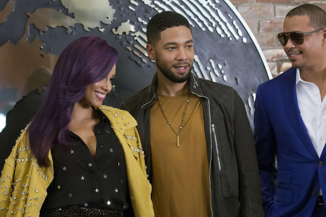 Bei Empire startet Jamal (Jussie Smollett, M.) eine Zusammenarbeit mit der von ihm schon lange verehrten Skye Summers (Alicia Keys, r.). Im Gegensat... - Bildquelle: Chuck Hodes 2015-2016 Fox and its related entities.  All rights reserved.