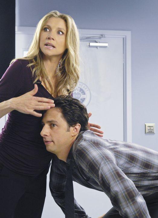 Freuen sich auf ihr Baby: J.D. (Zach Braff, r.) und Elliot (Sarah Chalke, l.) ... - Bildquelle: Touchstone Television
