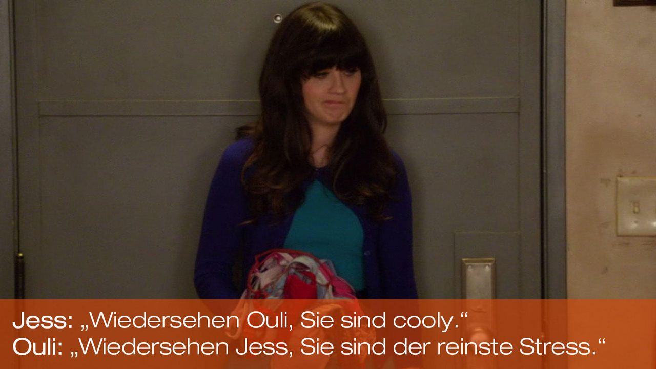 New Girl - Zitate - Staffel 1 Folge 21 - Jess (Zooey Deschanel) - Bildquelle: 20th Century Fox