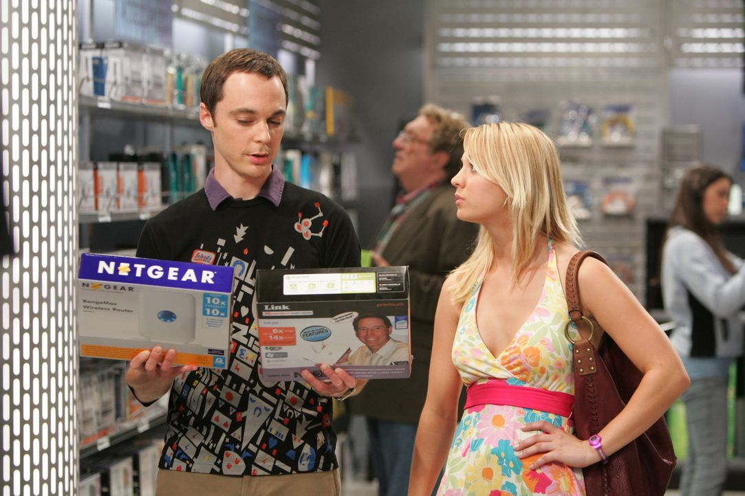 Sheldon Cooper (Jim Parsons, l.); Penny (Kaley Cuoco, r.) - Bildquelle: Warner Bros. Television