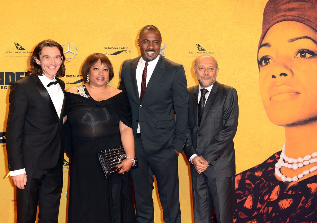 Premiere-Mandela-Justin-Chadwick-Zindzi-Mandela-Idris-Elba-Anant-Singh-14-01-28-dpa - Bildquelle: dpa