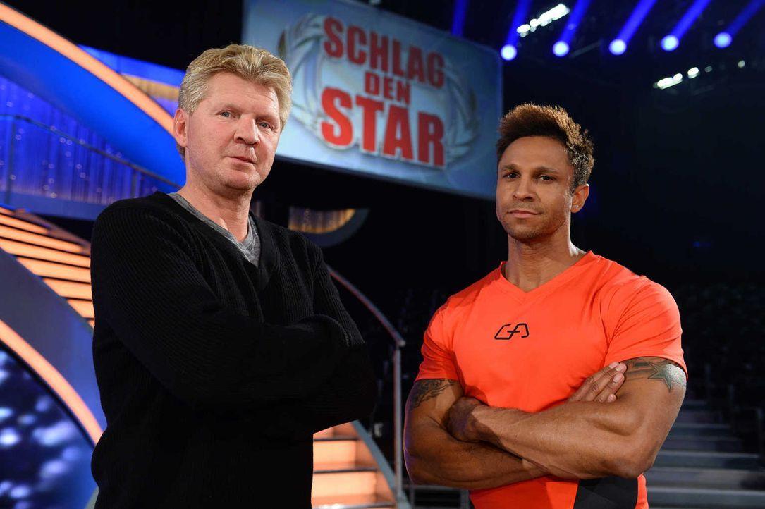 Das Duell der Champions: Daniel Aminati (r.) und Stefan Effenberg (l.) ... - Bildquelle: Willi Weber ProSieben