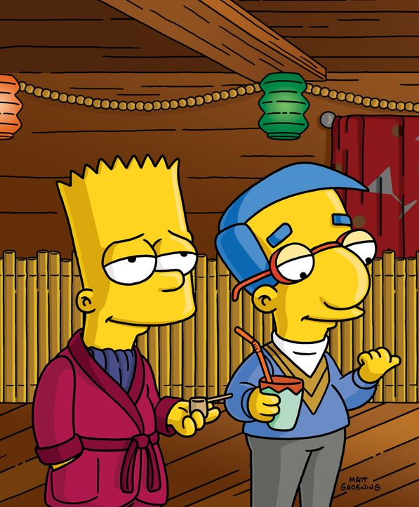 Bart (l.); Milhouse (r.) - Bildquelle: 2004 Fox and its related entities.  All rights reserved.