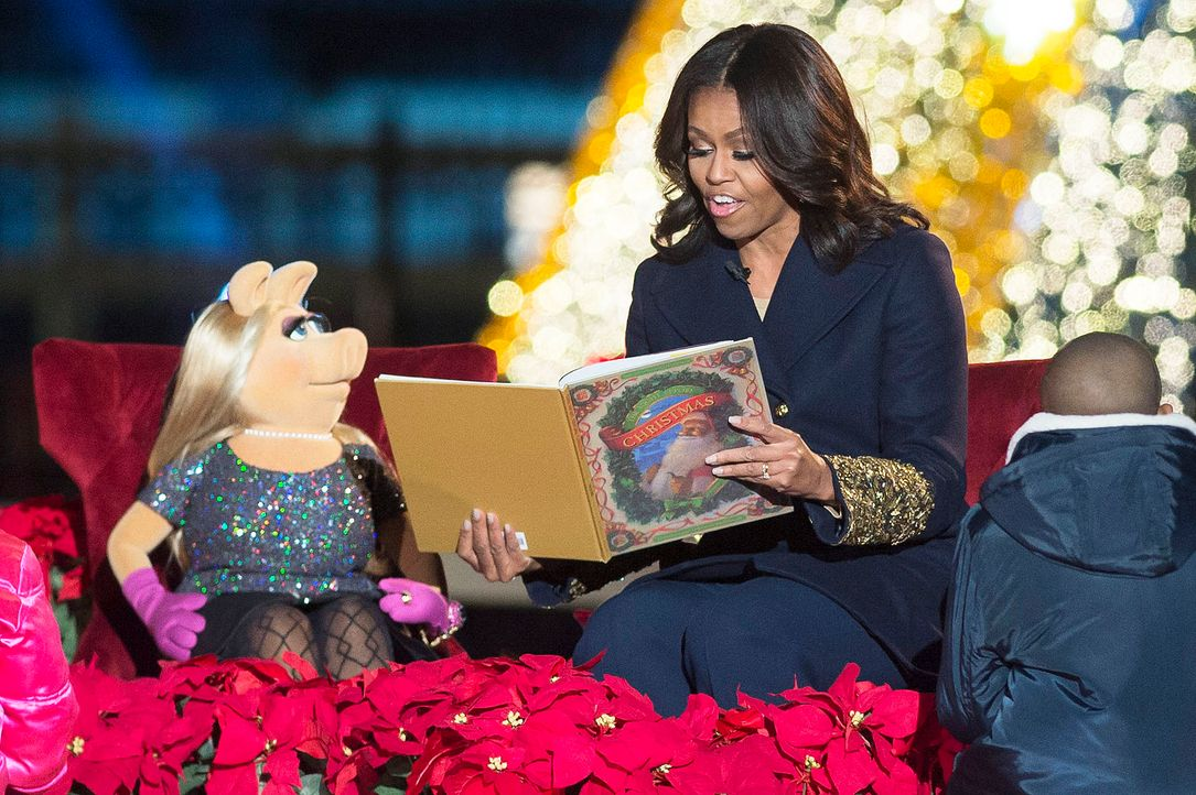 Michelle-Obama-Miss-Piggy-15-12-03-dpa - Bildquelle: dpa