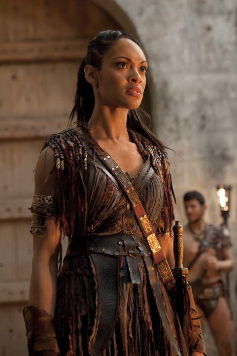 In den vielen Jahren ihrer Knechtschaft hat Naevia (Cyntha Addai-Robinson) das Vertrauen in die Menschen, insbesondere in die Männer, verloren. Und... - Bildquelle: 2012 Starz Entertainment, LLC. All rights reserved.