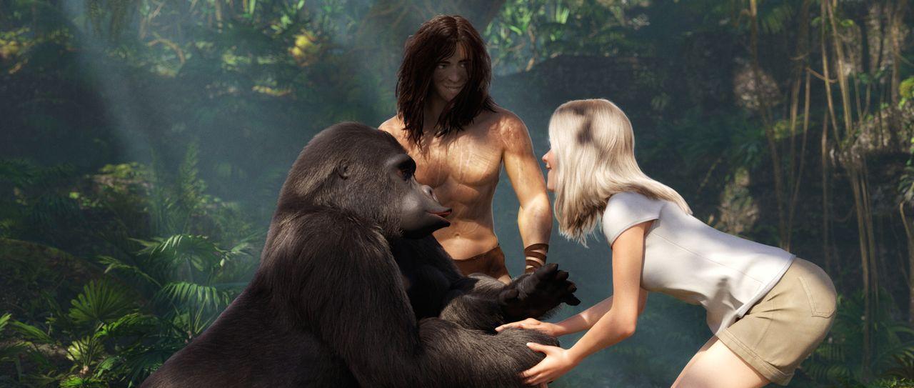 Endlich: Tarzan stellt Jane seine Affenmama Kala vor ... - Bildquelle: Constantin Film