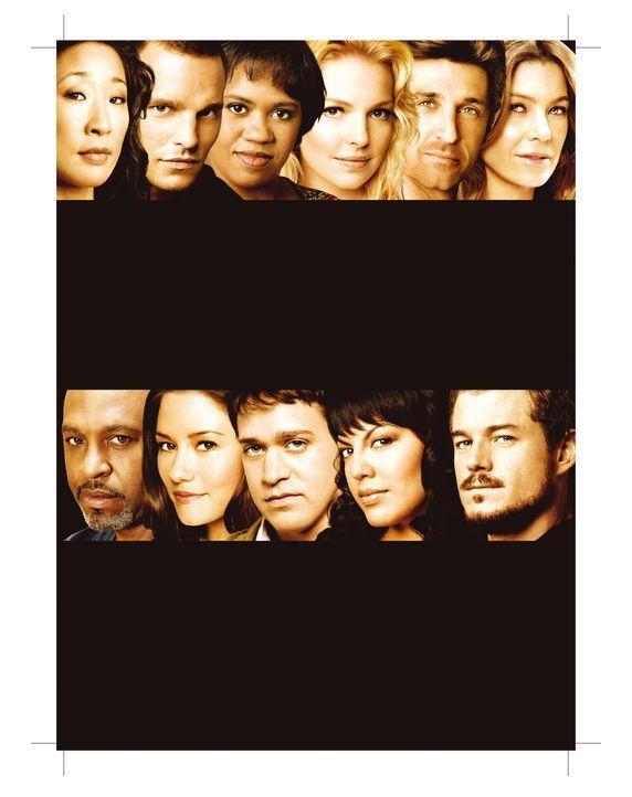 (4. Staffel) - Alles ändert sich: (Oben v.l.n.r.) Dr. Cristina Yang (Sandra Oh), Dr. Alex Karev (Justin Chambers), Dr. Miranda Bailey (Chandra Wilso... - Bildquelle: ABC Studios