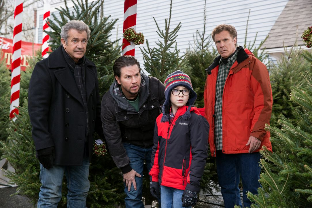 (v.l.n.r.) Kurt (Mel Gibson); Dusty (Mark Wahlberg); Dylan (Owen Vaccaro); Brad (Will Ferrell) - Bildquelle: Claire Folger 2018 Paramount Pictures / Claire Folger