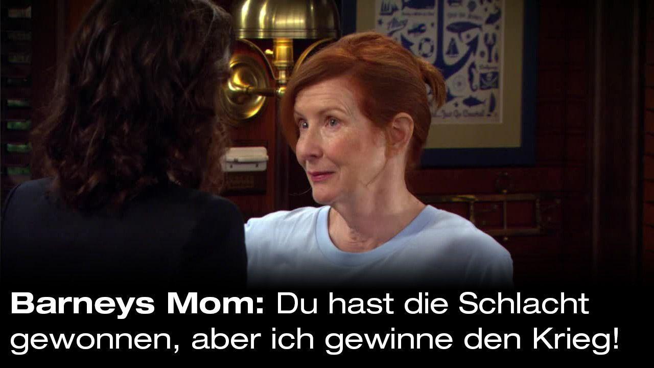 How-I-Met-Your-Mother-Zitate-Staffel-9-28-Barneys-Mom-Krieg - Bildquelle: 20th Century Fox Film Corporation all rights reserved.
