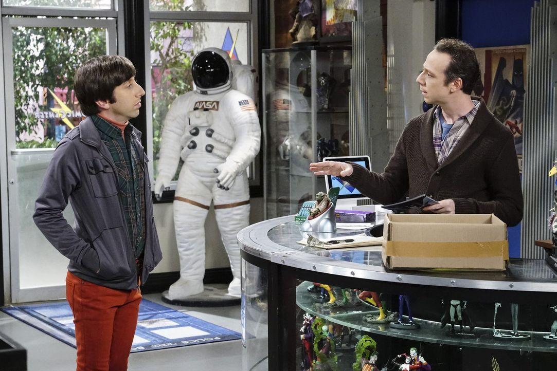 """Nachdem Raj mit ihm """"Schluss gemacht hat"""" sucht Howard (Simon Helberg, l.) ausgerechnet bei Stuart (Kevin Sussman, r.) Trost ... - Bildquelle: Warner Bros. Television"""