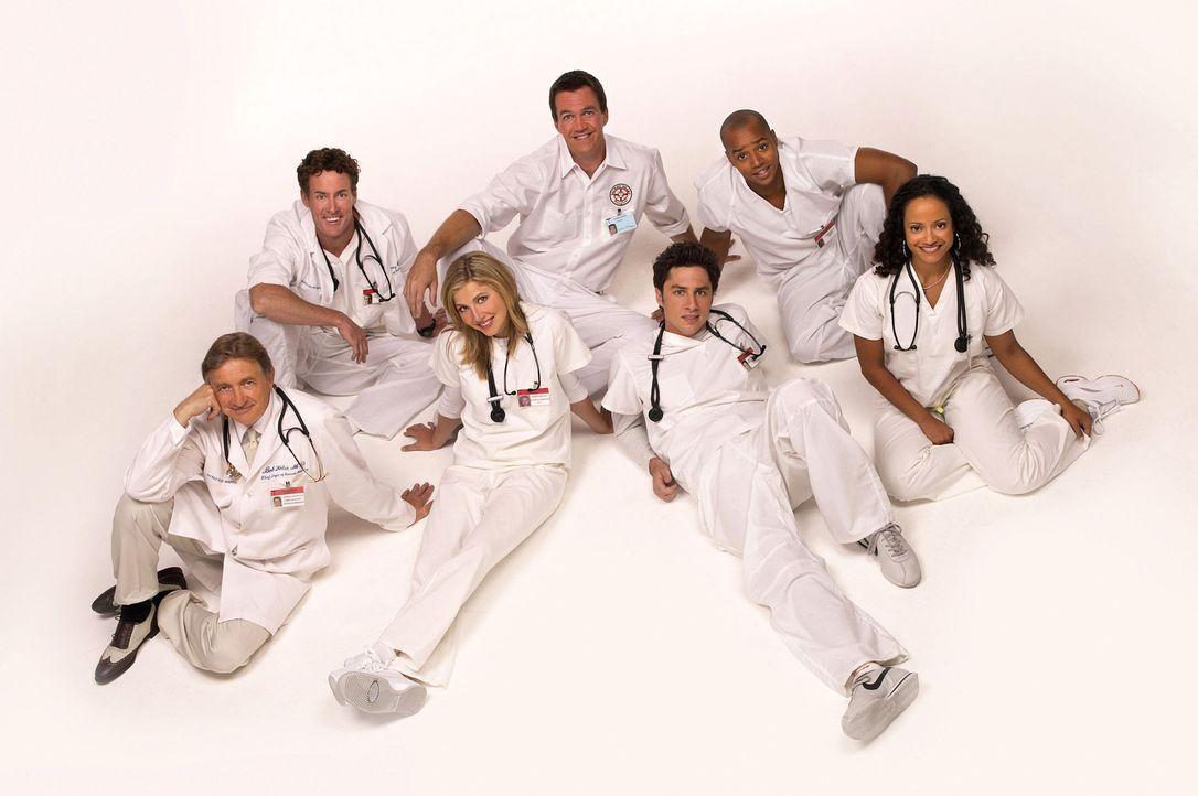 (2. Staffel) - Immer wieder kommt es zu Konflikten zwischen den Jungmedizinern und den erfahrenen Ärzten: (v.l.n.r.) Dr. Bob Kelso (Ken Jenkins), Dr... - Bildquelle: Touchstone Television