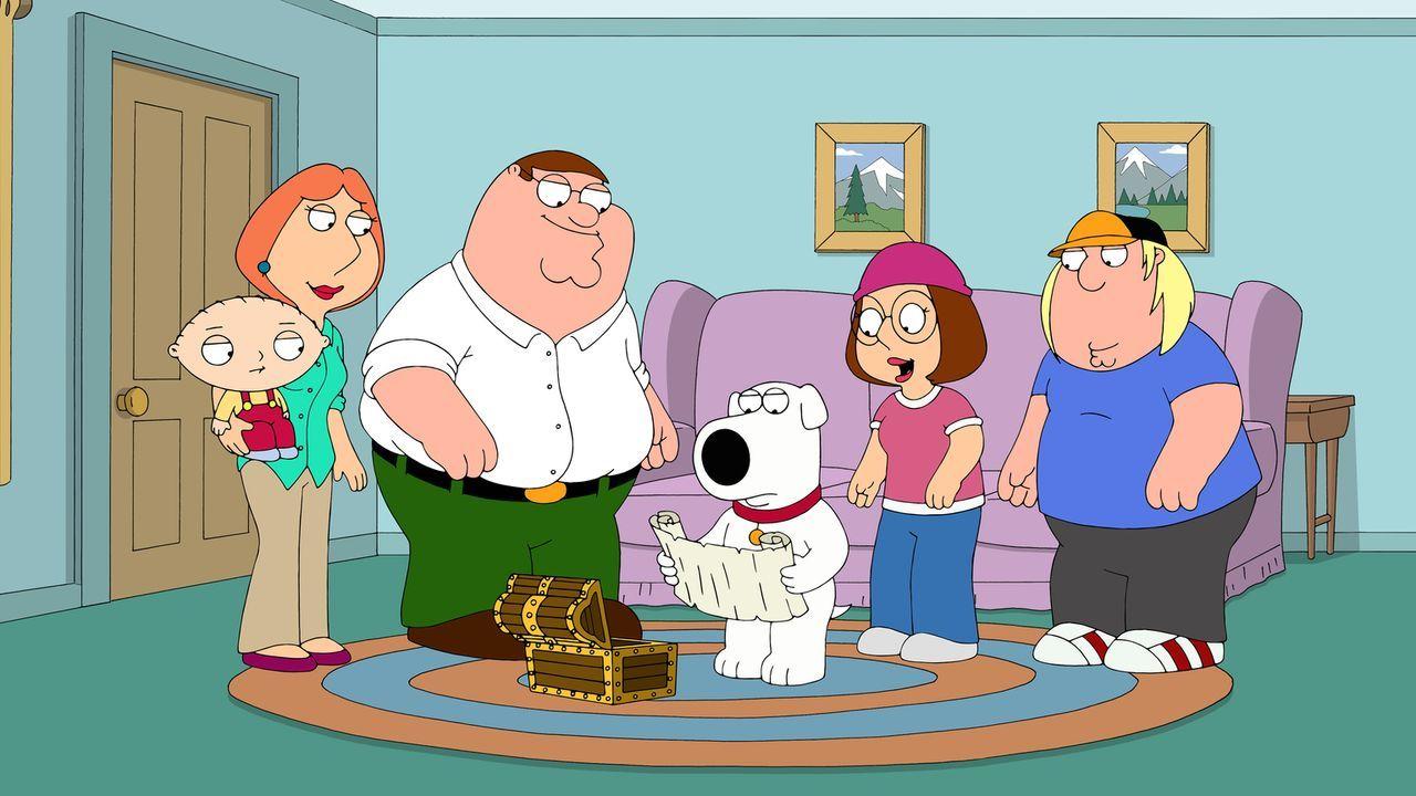 Haben einen ganz besonderen Schatz gefunden: (v.l.n.r.) Stewie, Lois, Peter, Brian, Megan und Chris ... - Bildquelle: 2014 Twentieth Century Fox Film Corporation. All rights reserved.