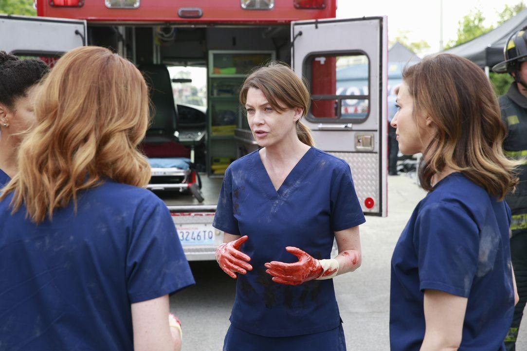 Im Kampf um Leben und Tod: Meredith (Ellen Pompeo, 2.v.r.), Maggie (Kelly McCreary, l.), April (Sarah Drew, 2.v.l.) und Amelia (Caterina Scorsone, r... - Bildquelle: ABC Studios