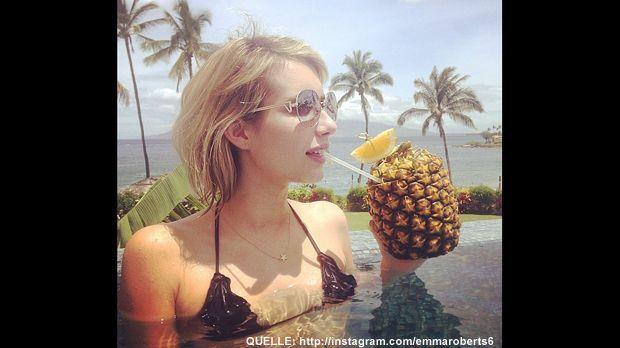Emma-Roberts-Ananas-Cocktail-Instagram - Bildquelle: http://instagram.com/emmaroberts6