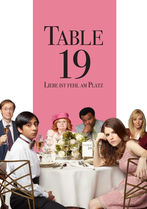 Table 19 - Liebe ist fehl am Platz - Artwork - Bildquelle: 2017 Twentieth Century Fox Film Corporation.  All rights reserved.