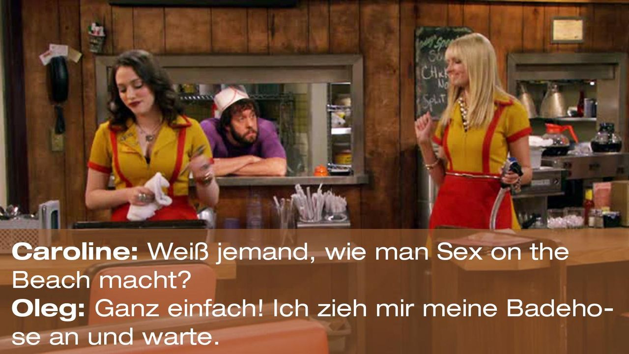 2-broke-girls-zitat-quote-staffel2-episode6-suesse-versuchung-oleg-sex-on-the-beach-warnerpng 1600 x 900 - Bildquelle: Warner Brothers Entertainment Inc.