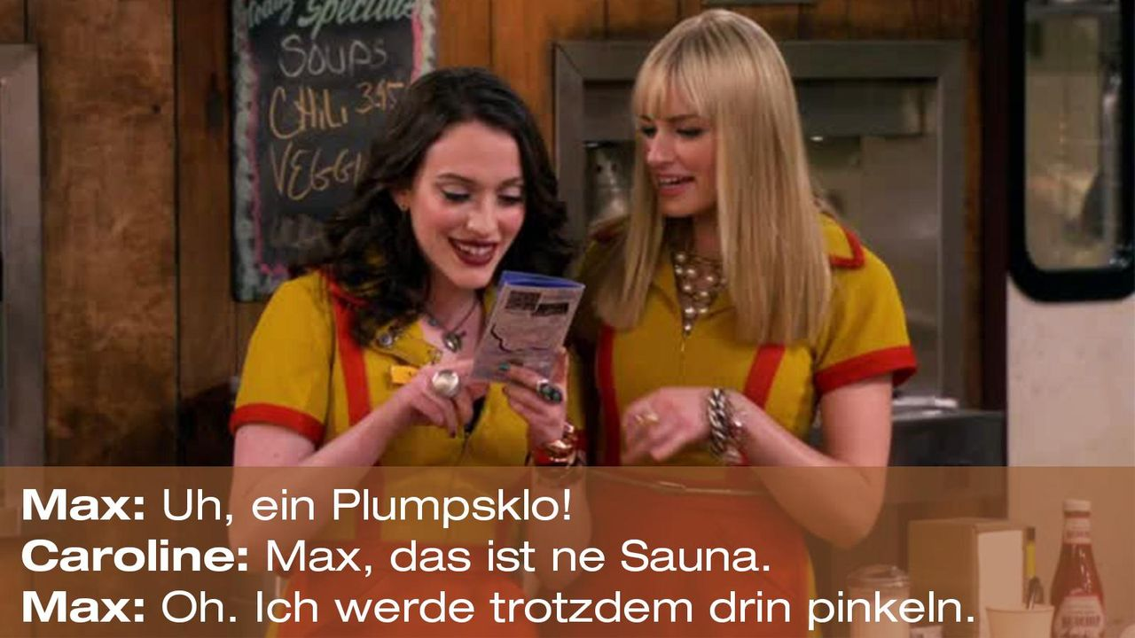 2-broke-girls-zitat-quote-staffel2-episode13-wochenende-max-sauna-warnerpng 1600 x 900 - Bildquelle: Warner Bros. Television
