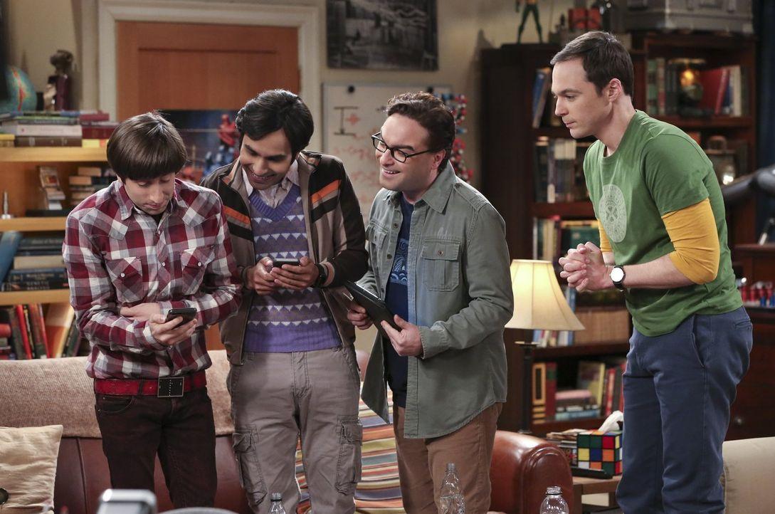 Der neue Star-Wars-Film kommt in die Kinos und Howard, Leonard, Raj und Sheldon hoffen, dass sie für den Premierenabend an Karten kommen ... - Bildquelle: 2015 Warner Brothers